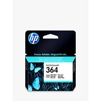 HP 364 Photo Printer Cartridge, Photo Black, CB317EE