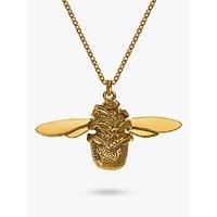 Alex Monroe 22ct Gold Vermeil Bumble Bee Pendant Necklace, Gold