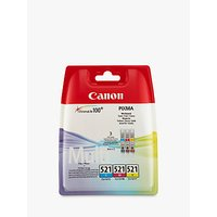 Canon CL-521 Colour Inkjet Cartridge Multipack