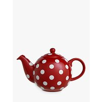 London Pottery Spot Print 6 Cup Teapot, Red/white