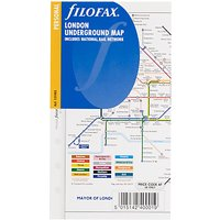Filofax Personal Inserts, London Underground Map