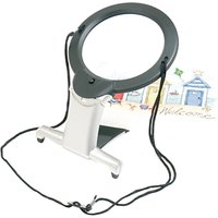 Two-in-One Illuminated Hands-Free Magnifier