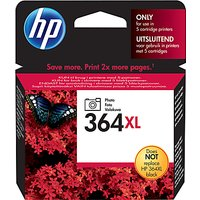 HP 364XL Photo Printer Cartridge, Black, CB322EE