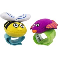 Sassy Wrist Rattles, Pack of 2, Assorted
