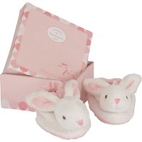 Doudou et Compagnie Baby Rabbit Booties Gift Box, Pink