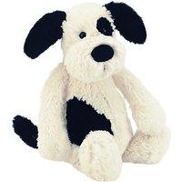 Jellycat Bashful Puppy Soft Toy, Black/White