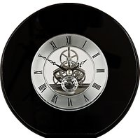 Dartington Crystal Round Clock, Dia. 15cm, Black