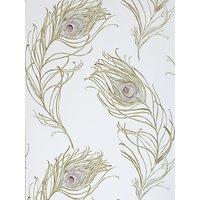 Prestigious Textiles Peacock Wallpaper, Heather, 1938/153