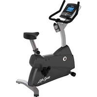 Life Fitness Lifecycle C1 Upright Exercise Bike with Go Console