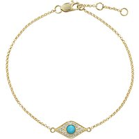 London Road Enchanted Evil Eye Diamond and Turquoise Bracelet, Gold