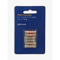 John Lewis Mixed Fuses Pack, Pack of 6