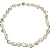 A B Davis Cultured River Baroque Pearl Necklace, White