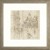 Adelene Fletcher - The Grand Canal Framed Print, 54 x 54cm