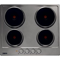 Zanussi ZEE6940FXA, Sealed Plate Electric Hob, 60cm Wide, Stainless Steel