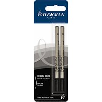 Parker Waterman Rollerball Pen Refills, Black, Pack of 2