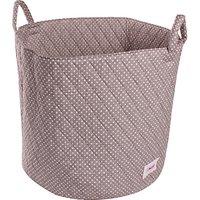 Minene Large Dots Storage Basket, Grey