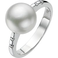 A B Davis Pearl Cubic Zirconia Ring, Silver