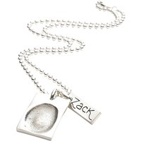 FingerPrint Jewellery Dog Tag and Name Tag Necklace