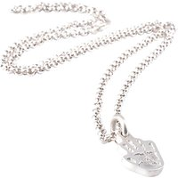 Fingerprint Jewellery Single Handprint Charm Necklace, Silver