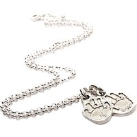 Fingerprint Jewellery Two Little Handprint Charms Necklace, Silver