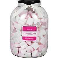 Farhi Strawberry Flavoured Pink and White Marshmallow Hearts Jar, 1kg