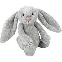 Jellycat Bashful Bunny Soft Toy, Small, Silver