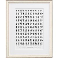 Letterfest Personalised Family Word Search Framed Print, 44.8 x 56.8cm