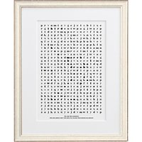 Letterfest Personalised Wedding Word Search Framed Print, 44.8 x 56.8cm