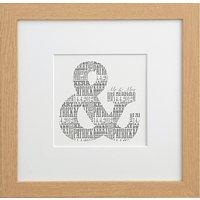 Letterfest Personalised Mr & Mrs Print, Dove Grey