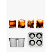 Sagaform Ice Shot Glass Mould, Set of 4, Clear