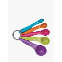 Kitchen Craft Colourworks 5 Piece Measuring Spoon Set, Multi