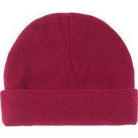 School Fleece Hat, Maroon