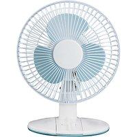NSAUK DF-2331 White Desk Fan, 9 Inch