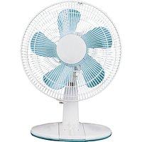 NSAUK DF-3032 White Desk Fan, 12 Inch