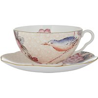 Wedgwood Cuckoo Cup And Saucer Set, Peach