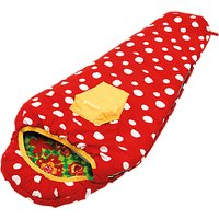 Outwell Butterfly Girl Sleeping Bag, Red/Green/Yellow