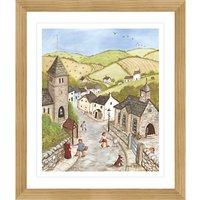 Janice Mcgloine - Countryside Church Framed Print, 57 x 66cm