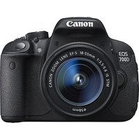 Canon EOS 700D Digital SLR Camera with 18-55mm STM Lens, HD 1080p, 18MP, 3 LCD Touch Screen