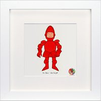 David Mckee - Mr Benn Knight Framed Print, 23 x 23cm