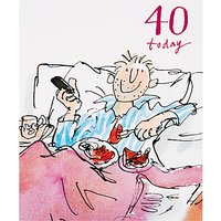 Woodmansterne Dad Having Breakfast In Bed Birthday Card