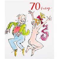 Woodmansterne Man Jumping 70th Birthday Greeting Card