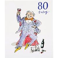 Woodmansterne Soaking Feet 80th Birthday Card