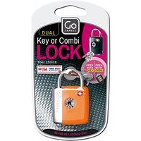 Go Travel 337 TSA Dual Combi and Key Padlock, Assorted Colours