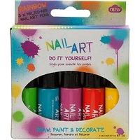 Nail Art Pens, Pack of 5, Multi