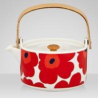 Marimekko Unikko Ceramic Teapot, Red