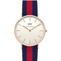 Daniel Wellington Womens Nato Fabric Strap Watch