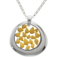 Nina B Petals Pendant Necklace, Silver/Gold