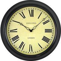 Lascelles Personalised Case Clock, Dia.45cm, Black