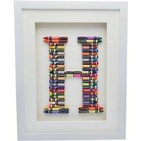 The Letteroom Crayon H Framed 3D Artwork, 34 x 29cm