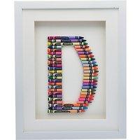 The Letteroom Crayon D Framed 3D Artwork, 34 x 29cm